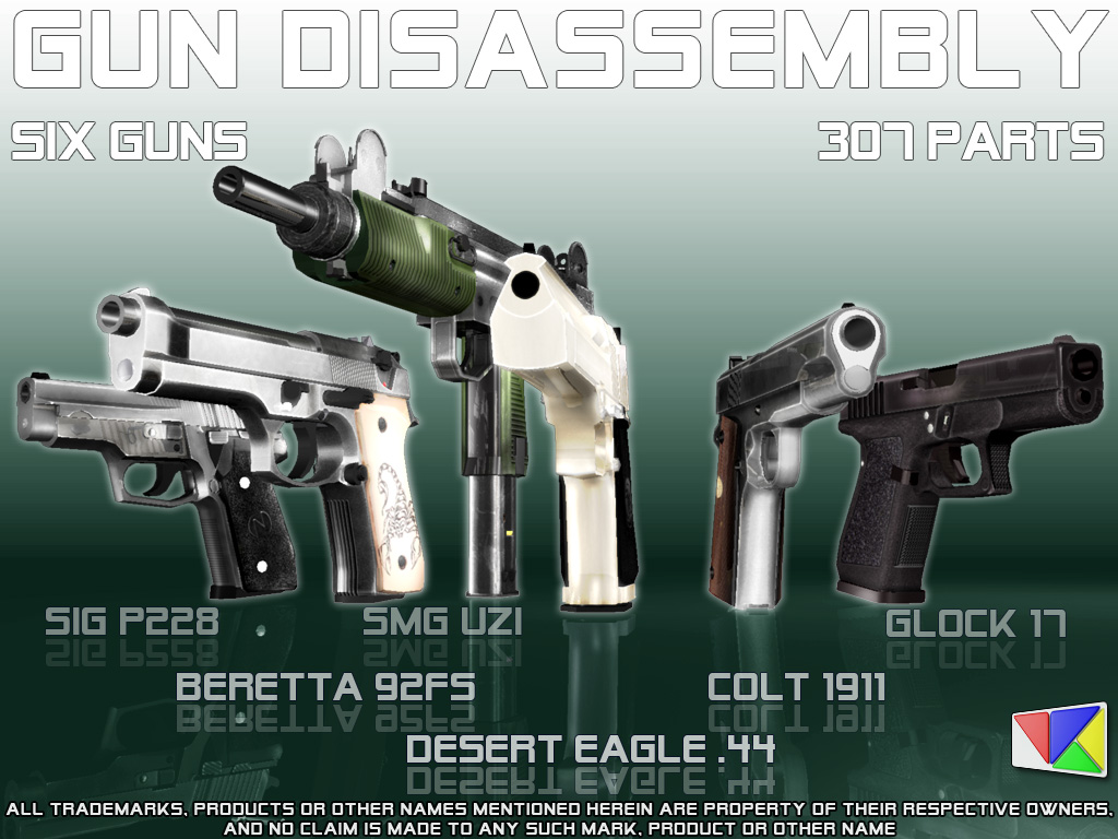 Gun Disassembly 3D